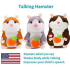 US STOCK Cute Talking Nod Hamster Mouse Record Chat Mimicry Pet Plush Toy Gifts