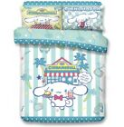 Sanrio Cinnamoroll Fitted Sheet Pillow Case Duvet Cover Bedding White Dog Cafe