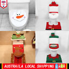 Santa Toilet Seat Cover Bathroom Rug Set Christmas Xmas Home Decoration Ornament