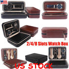 Watch Travel Case Wirstwatch Pouch 2/4/8 Slot PU Leather Storage Organizer Box