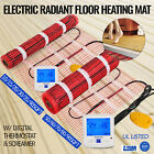 Electric Tile Radiant Warm Floor Heat Heated Mat Kit - 120V + Digital Thermostat