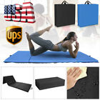 "4'x8'x2"" Gymnastics Mat Thick Yoga Folding Tumbling Gym Fitness Exercise Black image"