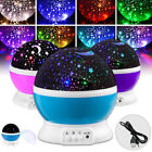 Star Sky Moon Lamp Night Projector LED Light Baby Kids Room Colorful Romantic