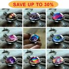 Glow in the Dark Galaxy System Double Sided Glass Dome Planet Necklace Pendant image