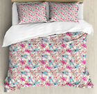 Used, Baby Duvet Cover Set with Pillow Shams Cute Rabbit Heroes Spiral Print for sale  Waltham