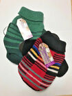 "Dog Sweater red stripes multicolor or green stripes Pooch Plus XXSmall 4"" to 6"""