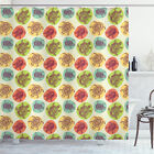 Turtle Shower Curtain Sea Animals Color Blots Print for Bathroom
