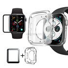 Waterproof Screen Protector TPU Case Cover For Apple Watch 5 4 3 40/44mm 42/38mm image