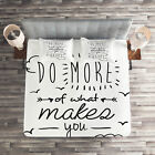 Quotes Quilted Coverlet & Pillow Shams Set, Positive Attitude Phrase Print image