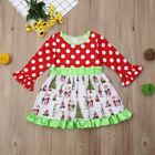 Внешний вид - NEW Grinch Stole Christmas Whoville Girls Long Sleeve Dress 2T 3T 4T 5T 6
