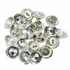 50pcs Crystal Rhinestone Buttons Shank Button Sofa Decor Decoration Handmade Sew