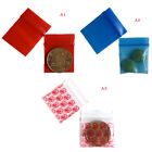100 Bags clear 8ml small poly bagrecloseable bags plastic baggie 0ZN