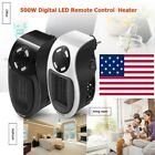 500W Electric Handy Heater Wall-Outlet Fan Winter Warmer LED Air Heating Stove