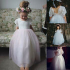 Lace Flower Girl Princess Long Kids Elegant Party Pageant Bridesmaid Gowns Dress