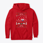 Luxembourg Flag Christmas Ugly Sweater Gildan Hoodie Sweatshirt