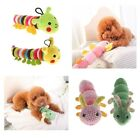 Cute Caterpillar Squeaky Chew Toys Pet Dog Cat Plush Sound Play Toy