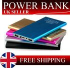 100000MAH POWER BANK DUAL USB PORTABLE THIN BATTERY CHARGER ANDROID IPHONE UK