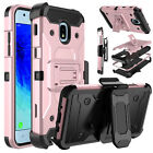 For Samsung Galaxy J3 V 2018/Orbit/Star/Achieve Phone Case Stand Belt Clip Cover