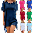 Women Beachwear Swimwear Bikini Beach Wear Cover Up Tassel Ladies Summer Dress