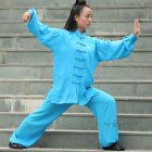 Womens Linen Tai chi Suit Chinese Kung fu  arts Uniform Morning Training Clothes