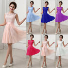 Uk Women Lace Short Dress Prom Evening Party Cocktail Bridesmaid Wedding 6-14