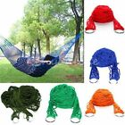 Garden Hammock Mesh Net Hang Rope Travel Camping Outdoor Swing Bed Portable US
