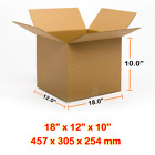 18x12x10 Inches Single Wall Brown Corrugated Cardboard Postal Mailing Boxes