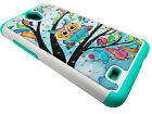 Tempered Glass + Sparkle Phone Case Cover For AT&T AXIA QS5509A / Cricket Vision