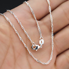 1/5pcs 925 Silver 16-30inch Jewelry Water Wave Chain Necklace Pendant Wholesale