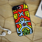 Keith Haring Screenprint AcEx19 Samsung Note 8 S6 S7 S8 iPhone XS X 7 8 6 Case