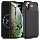 For iPhone X XR XS XS Max Rechargeable Battery Charging Case Power Bank Charger