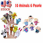 16X Story Finger Puppets 10 Animals 6 People Family Members Educational Toy Cute