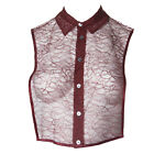 MARINA RINALDI Women's Red Queen Sheer Lace Vest $355 NWT