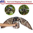 Realistic Owl Scarecrow Decoy Crow W/ Flapping Wings Garden Weed Pest Control