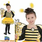 Bumble Bee Ballerina Leotard Tutu Animal Insect Childs Kids Fancy Dress Costume
