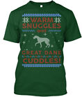Great gift Great Dane Ugly Christmas Sweater - Warm Hanes Tagless Tee T-Shirt