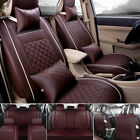 US PU Leather Car Seat Cover Cushions Full Set 5-Seats SUV Front+Rear All Season