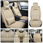 PU Leather Car Seat Cover Cushion Full Set 5-Seats SUV Front Rear Universal US