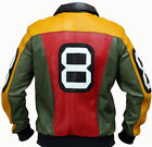 8 Ball Pool Seinfeld Michael Hoban MI Bomber Genuine Leather Jacket All Sizes $99.99 USD on eBay