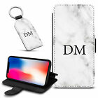Marble Personalised PU Leather Wallet Case & Keyring For Various Mobiles - 16