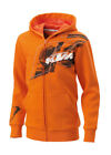 KTM Kids Splatter Zip Front Orange Hoodie New RRP £45.72!! 3PW1495108