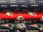 NEW ENGLAND PATRIOTS COTTON FABRIC BT 1/2 Yard 3 Prints Fabric Traditions $5.25 USD on eBay