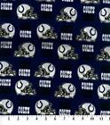 Indianapolis Colts Fabric by the Yard or Half Yard, NFL Cotton Fabric, Broadclot $5.25 USD on eBay