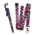 MULTI FLOWER Lanyard Strap ID Holder Spirius & Mobile Phone Stand Touch Pen 3in1