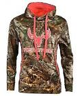 Realtree Ladies 100% polyester Camo Pullover Hoodie
