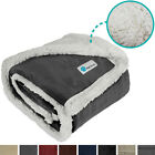 Warm Sherpa Dog Blanket for Medium and Large Dogs Reversible Soft Fleece Durable