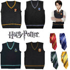 Harry Potter Robe Cloak Cape Vest Tie Gryffindor Slytherin Hufflepuff Ravenclaw