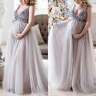 Kyпить Pregnant Women Sequins V-Neck Maternity Maxi Tutu Tulle Dresses Photography Prop на еВаy.соm