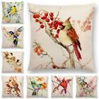 Bird Tree Cotton Linen Pillow Case Cushion Cover Waist Cover Home Decor
