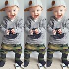 Legging Hoodies Camouflage Pants Boys Tops Baby Outfits Long Sleeve T-shirt